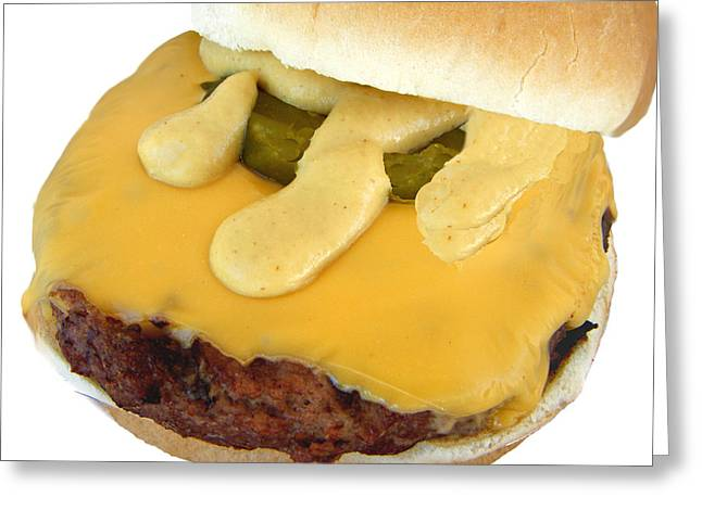 Cheeseburger Digital Greeting Cards - Hamburger in Disguise Greeting Card by Bruce Iorio