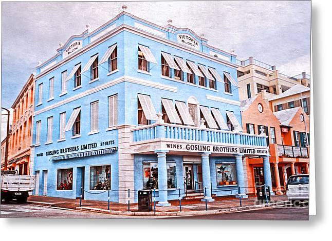 Colonial Building Greeting Cards - Hamilton Bermuda Greeting Card by Charline Xia