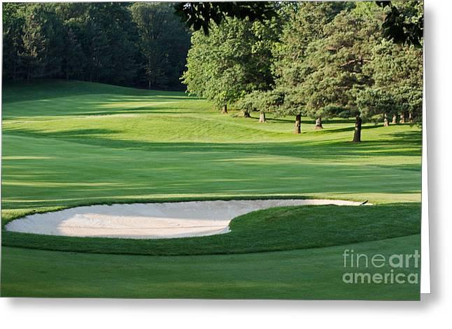 Hamilton Golf And Country Club Greeting Card by Barbara McMahon