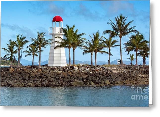 Whitsunday Greeting Cards - Hamilton Island Lighthouse Greeting Card by Shannon Rogers