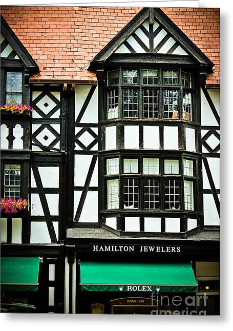 Store Fronts Greeting Cards - Hamilton Jewelers - Princeton  Greeting Card by Colleen Kammerer