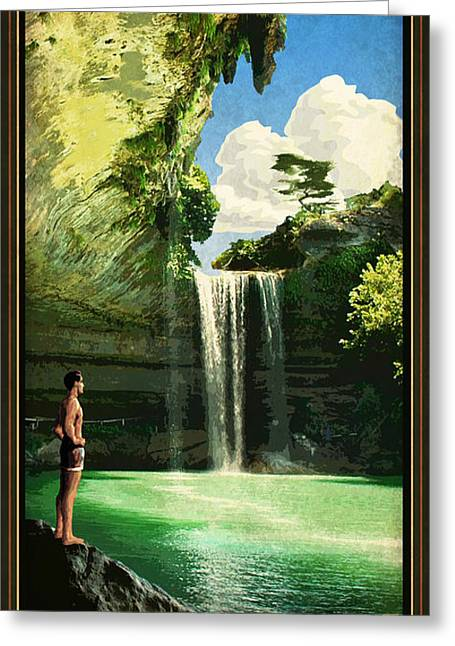 Hamilton Pool Greeting Cards - Hamilton Pool Greeting Card by Jim Sanders