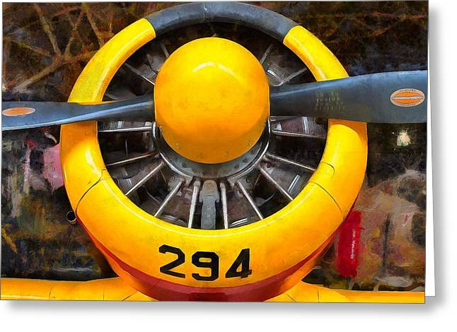 Propeller Paintings Greeting Cards - Hamilton Standard Propeller  Greeting Card by L Wright