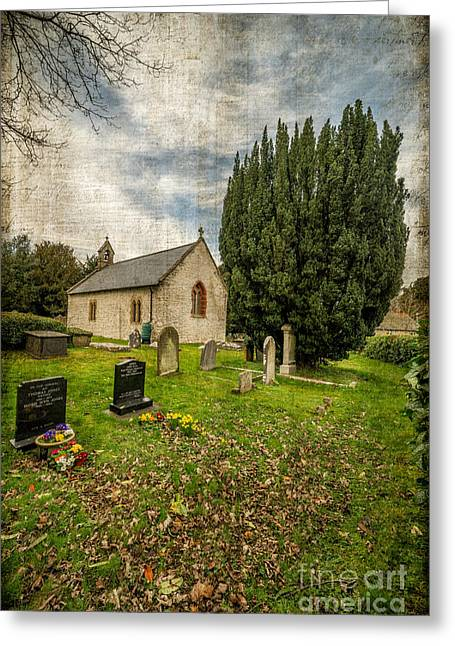 Grave Stone Greeting Cards - Hamlet Church Greeting Card by Adrian Evans