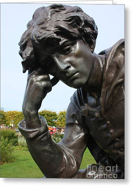 Historic Statue Greeting Cards - Hamlet in Stratford Upon Avon Greeting Card by Terri  Waters