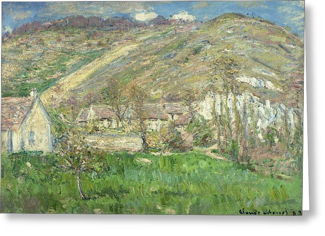 French Signs Greeting Cards - Hamlet in the Cliffs near Giverny Greeting Card by Claude Monet