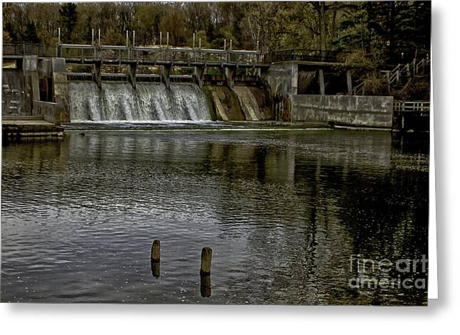 Hamlin Lake Greeting Cards - Hamlin Dam Greeting Card by Timothy J Berndt