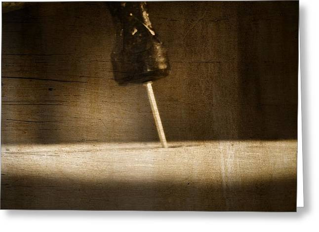Moments Of Power Greeting Cards - Hammer And A Nail Greeting Card by Dan Sproul