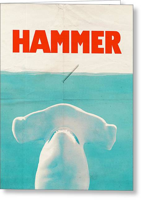 Hardware Drawings Greeting Cards - Hammer Greeting Card by Eric Fan