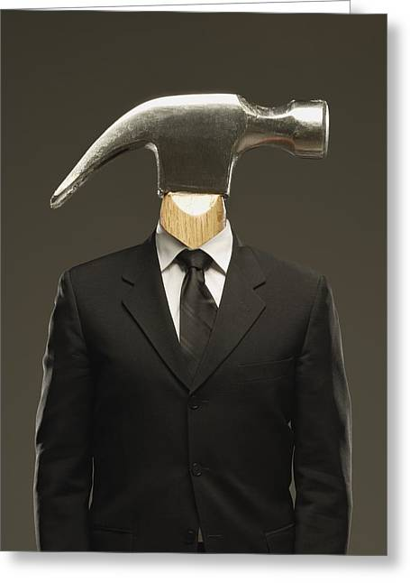 Conceptual Image Photographs Greeting Cards - Hammer Head Greeting Card by Darren Greenwood
