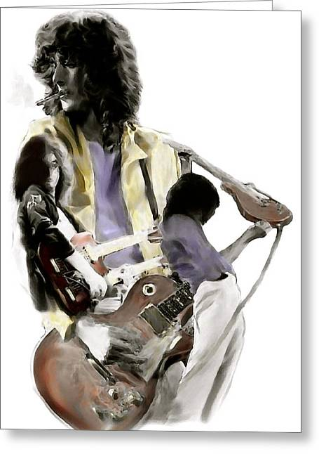 Smart Phone Greeting Cards - Hammer of The Gods IV Jimmy Page Greeting Card by Iconic Images Art Gallery David Pucciarelli