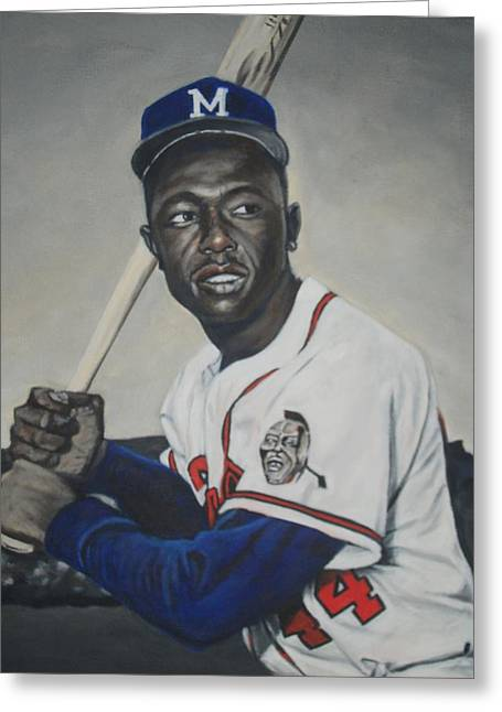 Negro Leagues Paintings Greeting Cards - Hammer Greeting Card by Paul Smutylo