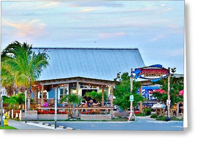 Kim Photographs Greeting Cards - Hammerheads Dockside Restaurant - Indian River Marina - Delaware Greeting Card by Kim Bemis