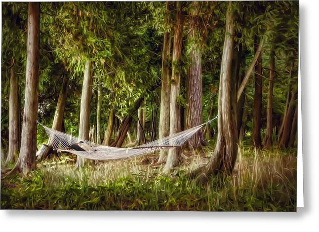 Shade Greeting Cards - Hammock Heaven Greeting Card by Scott Norris