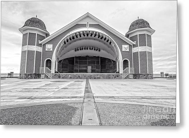 New Stage Greeting Cards - Hampton Beach Bandstand Stage Greeting Card by Edward Fielding