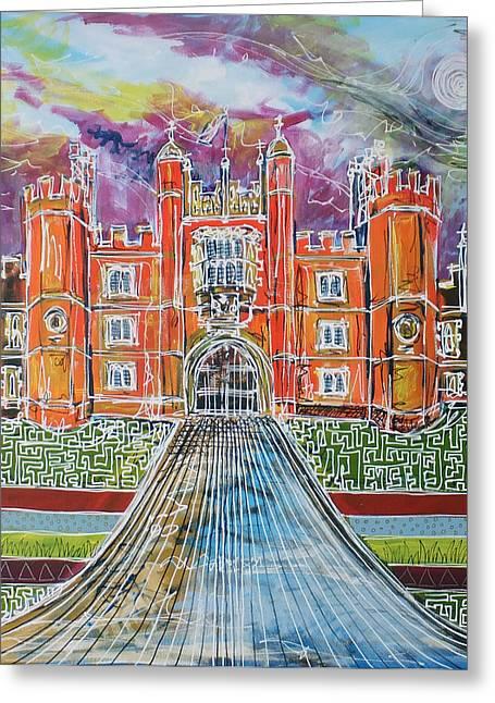 Hampton Court Greeting Cards - Hampton Court Greeting Card by Laura Hol