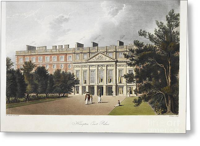 Hampton Court Greeting Cards - Hampton Court Palace Greeting Card by British Library