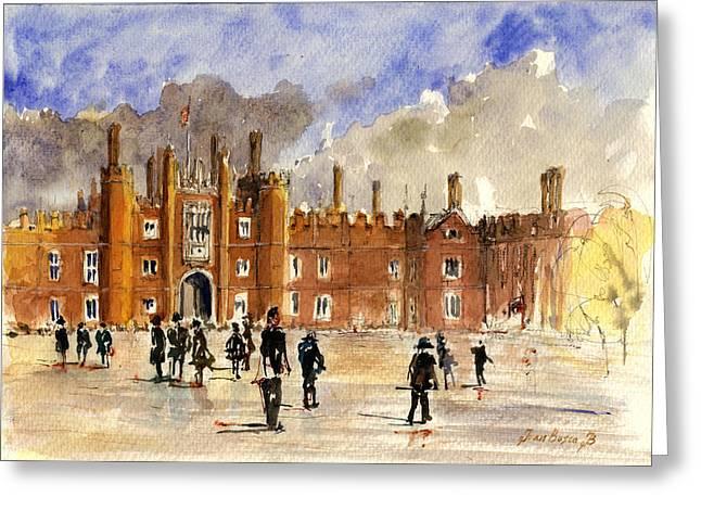 Palace Greeting Cards - Hampton Court Palace London  Greeting Card by Juan  Bosco