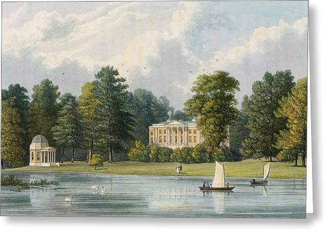 Hampton House, Engraved By Richard Greeting Card by William Westall