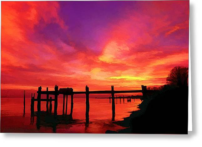 Hamptons Greeting Cards - Hampton Roads Sunset Greeting Card by Bill Caldwell -        ABeautifulSky Photography