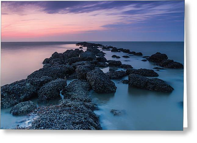 Hamptons Greeting Cards - Hampton Seascape Greeting Card by Ian Hufton
