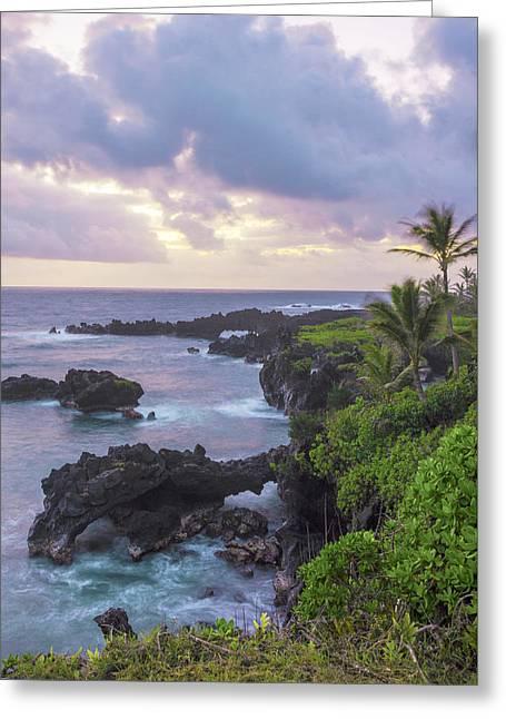 Hana Arches Sunrise 3 - Maui Hawaii Greeting Card by Brian Harig
