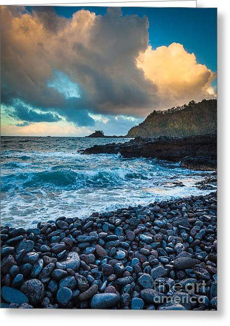 Harmonious Greeting Cards - Hana Bay Pebble Beach Greeting Card by Inge Johnsson