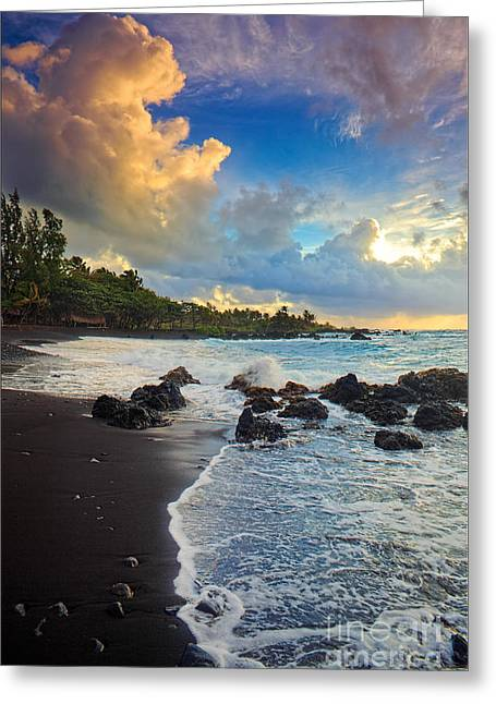 Beach Scenery Greeting Cards - Hana Clouds Greeting Card by Inge Johnsson