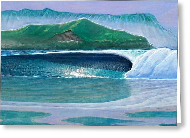 California Reliefs Greeting Cards - Hanalei Greeting Card by Nathan Ledyard