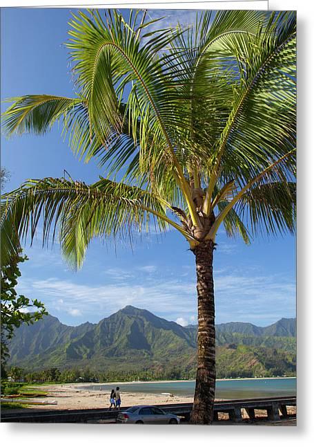 Hanalei Pier, Hanalei, Kauai, Hawaii Greeting Card by Douglas Peebles