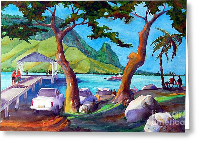 Hanalei Pier Greeting Card by Jerri Grindle
