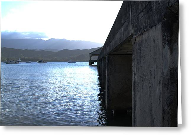 Hanalei Beach Greeting Cards - Hanalei Pier Kauai Greeting Card by Brian Harig