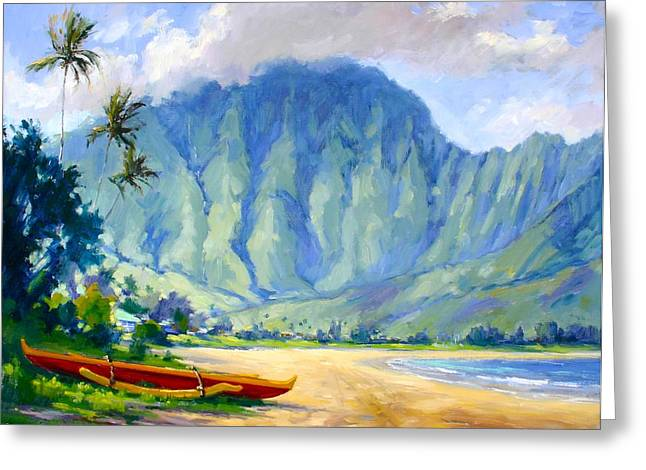 Hanalei Beach Greeting Cards - Hanalei style Greeting Card by Jenifer Prince