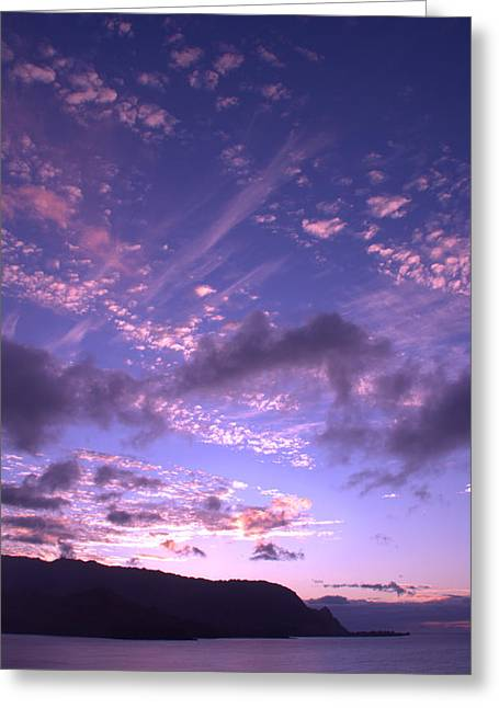 Ocean Scenes Greeting Cards - Hanalei Sunset 2 Greeting Card by Brian Harig