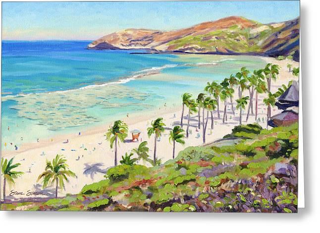 Steve Simon Greeting Cards - Hanauma Bay - Oahu Greeting Card by Steve Simon