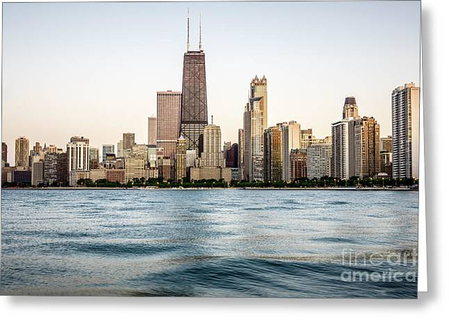 Architecture Greeting Cards - Hancock Building and Chicago Skyline Greeting Card by Paul Velgos