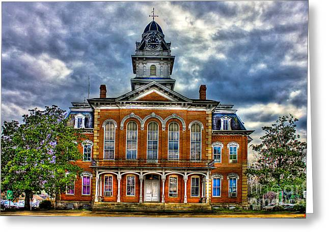 Sparta Greeting Cards - Hancock County Courthouse Greeting Card by Reid Callaway
