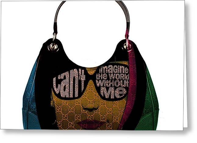 Hand Bag Art Greeting Card by Marvin Blaine