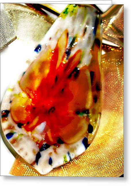 Art Blown Glass Photographs Photographs Photographs Greeting Cards - Hand blown Glass Pendant Greeting Card by Judy Paleologos