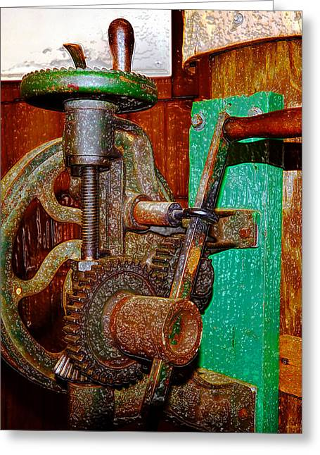 Hand Made Digital Art Greeting Cards - Hand Cranked Greeting Card by David Lee Thompson