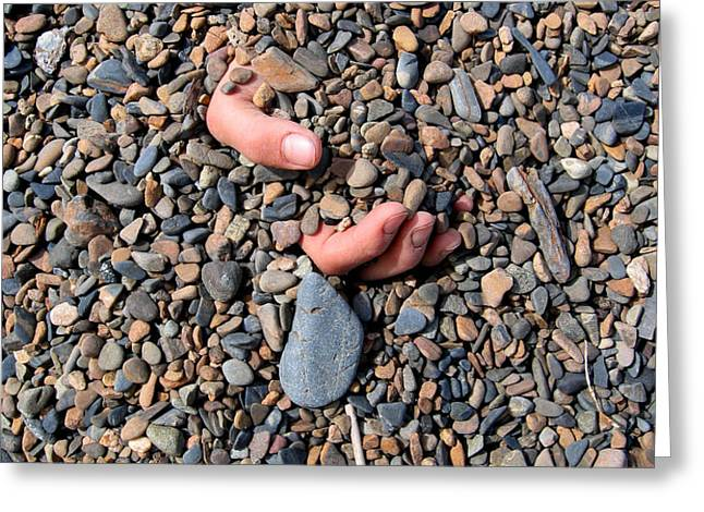 Hand in Gravel Greeting Card by Stephan Pietzko