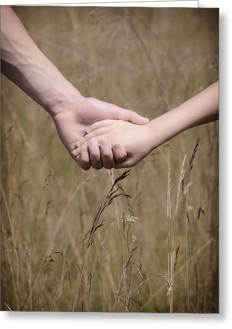 Hand In Hand Greeting Cards - Hand In Hand Greeting Card by Joana Kruse