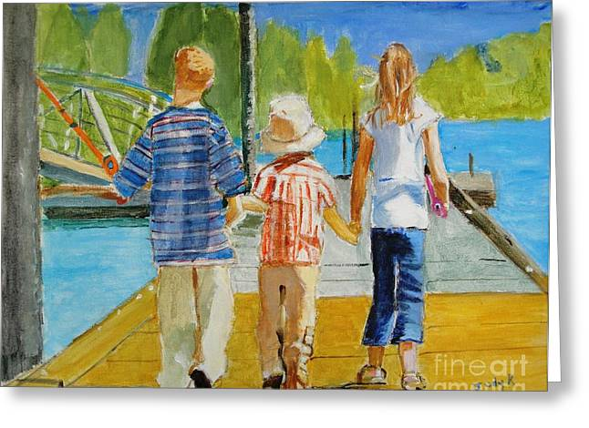 Emotive Greeting Cards - Hand in Hand Greeting Card by Judy Kay