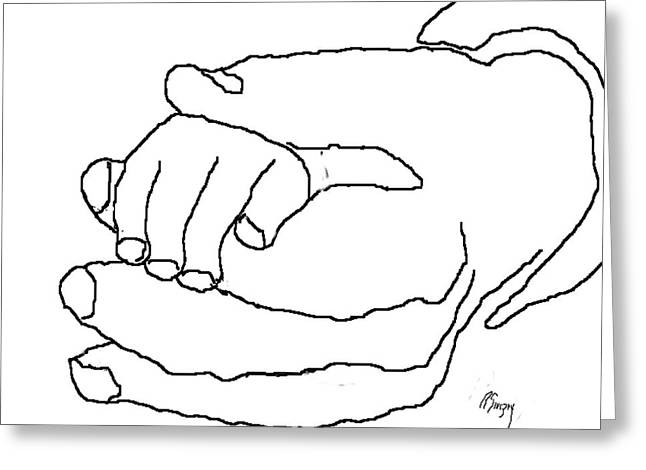 R Allen Swezey Greeting Cards - Hand in Hand Greeting Card by R  Allen Swezey