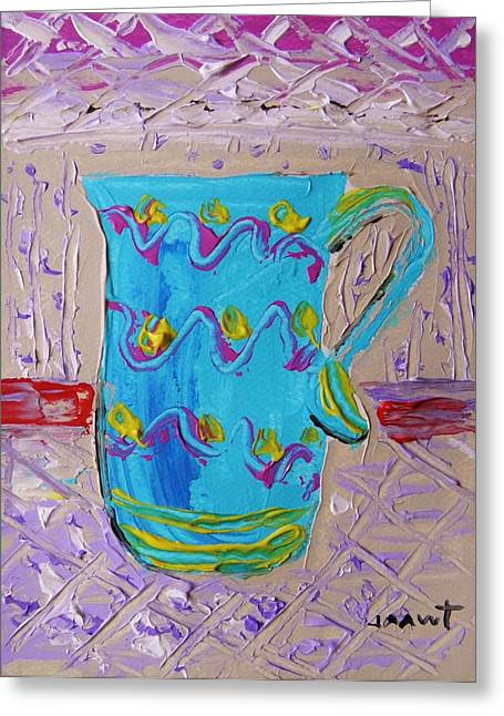 Pottery Pitcher Drawings Greeting Cards - Hand Made Greeting Card by John  Williams