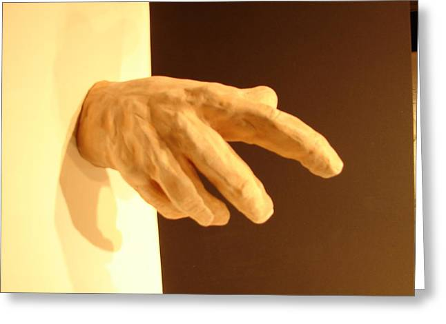 Natural Sculptures Greeting Cards - Hand Of God Ired Clay Greeting Card by Joseph Hawkins