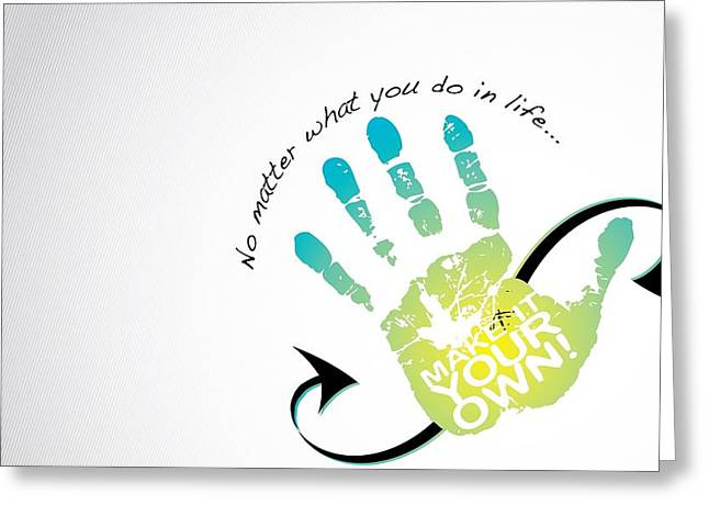 Hand Of Life Greeting Card by Gianfranco Weiss