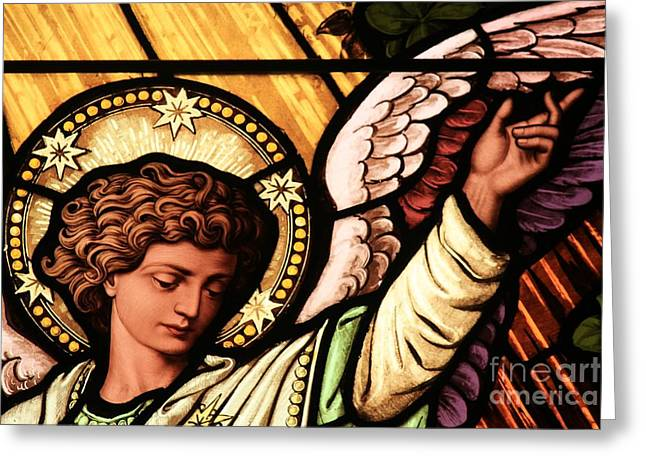 Religious Artwork Photographs Greeting Cards - Hand Of The Angel Greeting Card by Adam Jewell