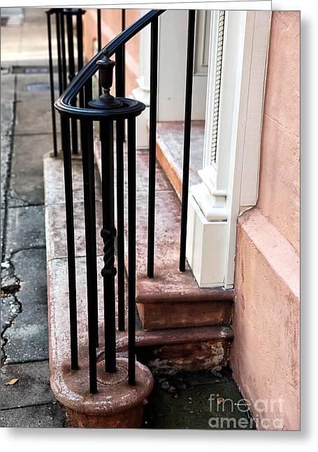Southern Design Greeting Cards - Hand Railing Greeting Card by John Rizzuto