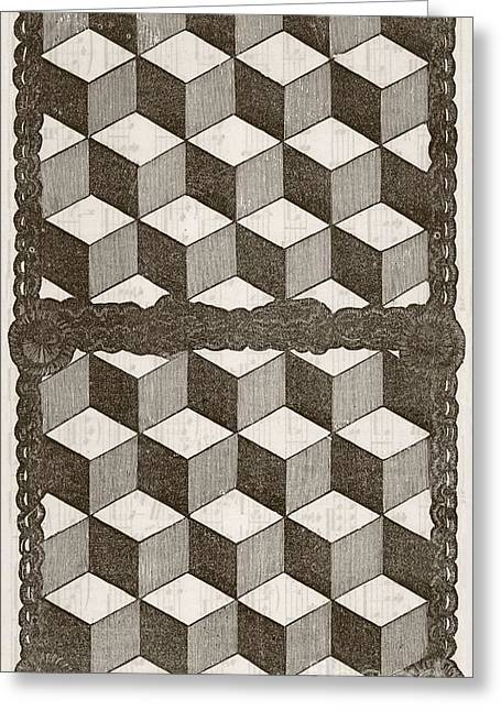 Magazine Pages Greeting Cards - Handkerchief Case, 19th Century Greeting Card by Mid-manhattan Library